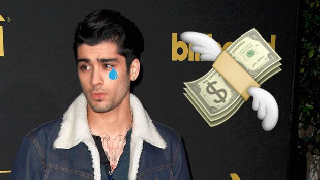 A Zayn Malik, la fortuna de One Direction no le sonríe como él quisiera