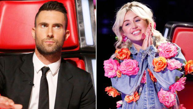 ¿Enemistad entre Miley Cyrus y Adam Levine pone a 'The Voice' en peligro?