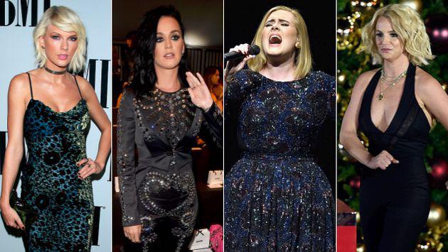 WTF! Taylor Swift, Adele, Britney Spears y Katy Perry y sus extrañas fobias