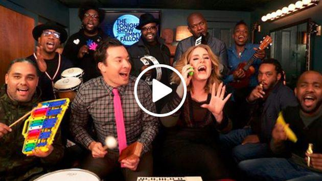 Adele y su divertida interpretación de 'Hello' junto a Jimmy Fallon. ¡Chécala! [VIDEO]