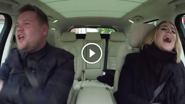 ¡Adele y James Corden improvisan karaoke en un auto! [VIDEO]