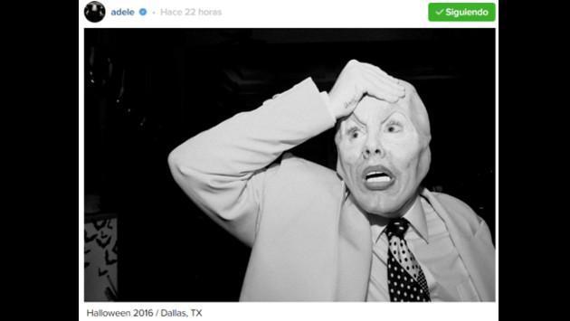 Adele celebró Halloween convertida en 'La Máscara' [FOTOS]