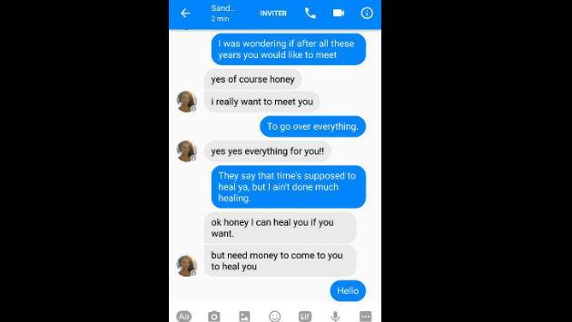 ¡Trolleó a una estafadora en Facebook con la letra de 'Hello' de Adele y el resultado fue épico!