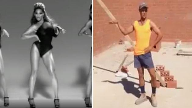 ¡Albañil sorprende bailando 'Single Ladies' de Beyoncé en pleno trabajo! [VIDEO]