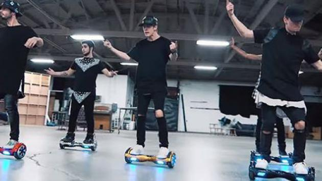 Alucinante coreografía de 'What Do You Mean?' de Justin Bieber en segway [VIDEO]