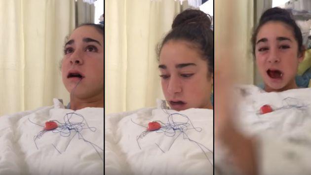La divertida conversación de una joven tras despertar de la anestesia [VIDEO]