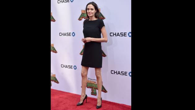 ¡¡¡Angelina Jolie lució demasiado delgada en estreno de 'Kung Fu Panda 3'!!!