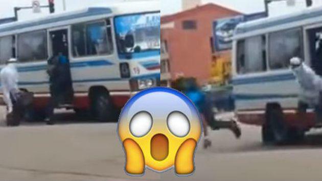 ¿Qué harías si un 'árabe' arroja una maleta dentro de la cúster en la que viajas? [VIDEO]