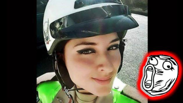 Facebook está como loco por esta policía que por este selfie saltó a la fama