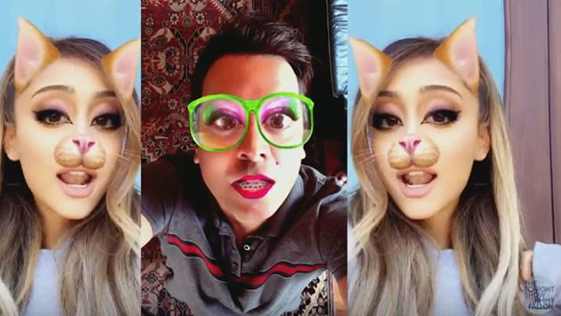 Ariana Grande y Jimmy Fallon lanzan divertido video con Snapchat