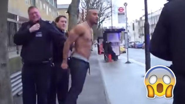 OMG! ¡Lo arrestaron y se puso tan nervioso que no aguantó las ganas de ir al baño! [VIDEO]
