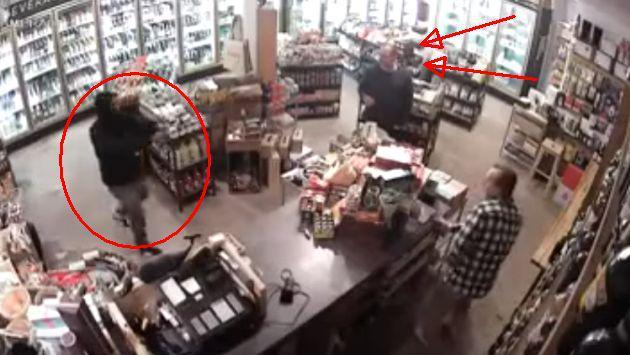 Ladrón entra a robar a una tienda, pero no esperaba que esto pasara [VIDEO]