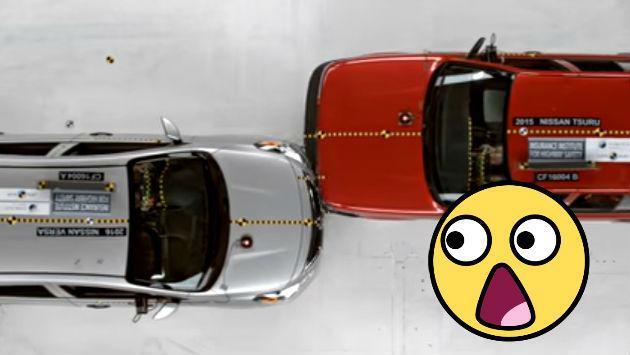 Así quedaron los autos más baratos de USA y México luego de impresionante choque