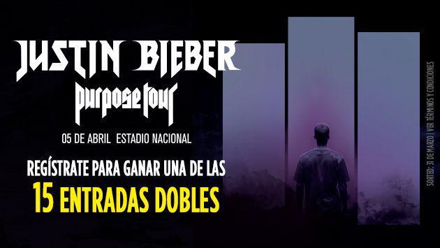 ¡Participa y gana una entrada doble para el concierto de Justin Bieber!