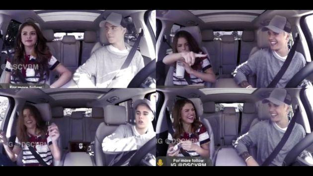 OMG! ¿Selena Gomez y Justin Bieber se subieron al 'Carpool Karaoke' juntos? [VIDEO]