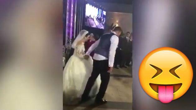 ¡Se lanzaron a la piscina en su fiesta de matrimonio sin saber la vergüenza que pasarían! [VIDEO]