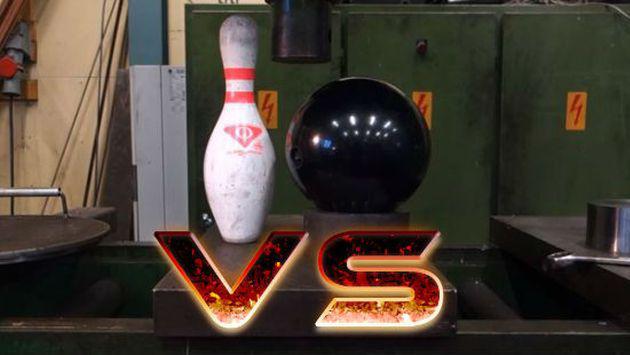 ¿Un pino o una bola de boliche? ¿Sabes cuál es más resistente? [VIDEO]