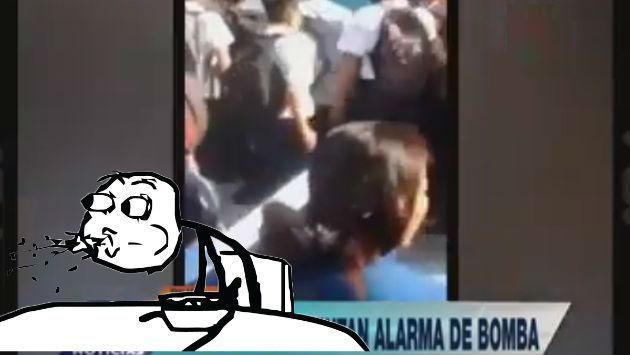¡Escolares inventaron alarma de bomba para no dar examen y esto pasó! [VIDEO]