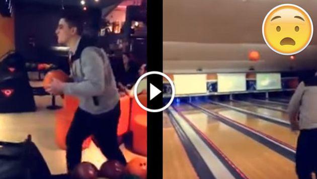 No intentes hacer esto en el bowling ¡Pasarás el 'roche' de tu vida! [VIDEO]