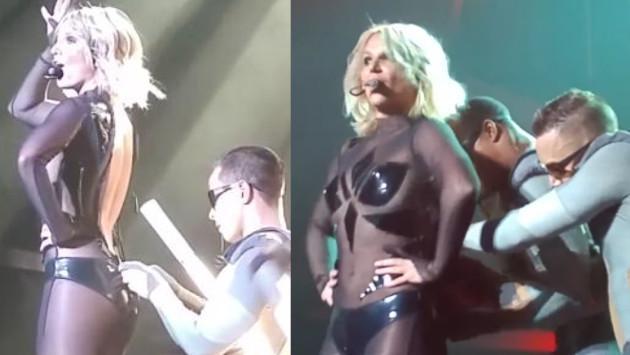 Britney Spears sufrió problemas con vestuario en show ¡Se le bajó el cierre!
