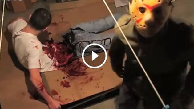 OMG! Broma sangrienta casi termina en una tragedia [VIDEO]
