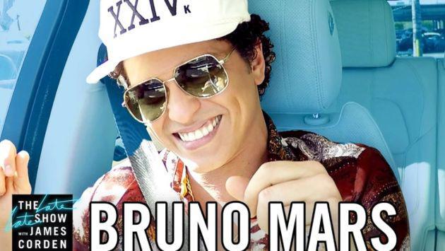 ¡Bruno Mars se une al 'Carpool Karaoke' y el resultado es increíble! [VIDEO]