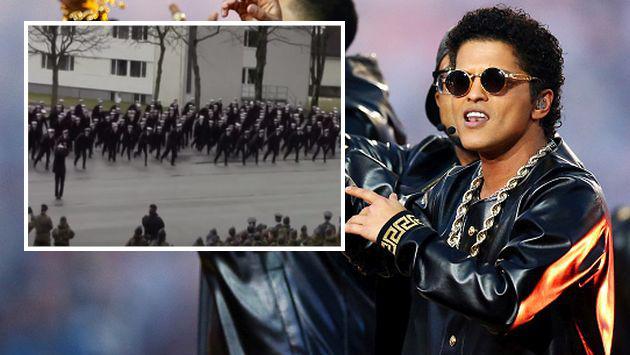 Cadetes noruegos hicieron coreografía de 'Uptown Funk' de Bruno Mars. ¡Chécalo! [VIDEO]