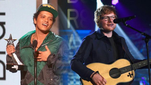 ¿Bruno Mars o Ed Sheeran? ¿Quién es el artista pop masculino del momento?