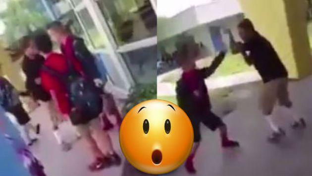 Quiso abusar de este escolar y se llevó una GRAN sorpresa [VIDEO]