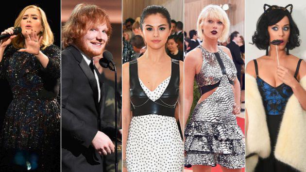 ¡Taylor Swift, Katy Perry, Rihanna, Selena Gomez, Ed Sheeran y Adele y sus canciones más letales! [VIDEOS]