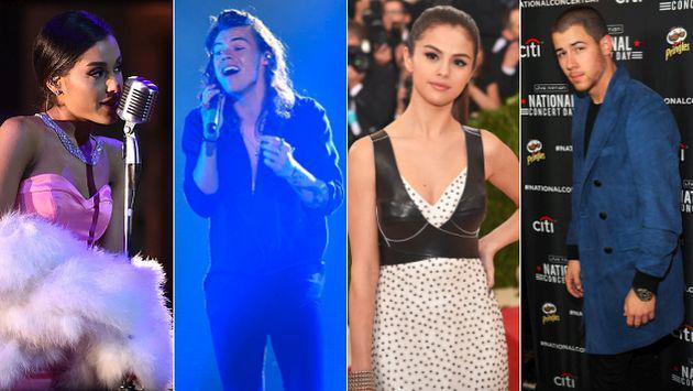 Harry Styles, Ariana Grande, Selena Gomez y Nick Jonas confesaron cuáles fueron sus peores besos