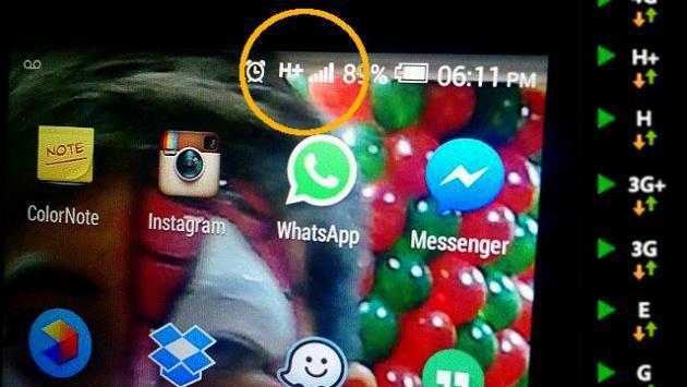 ¿Qué significa cuando aparece E, H, H+, 3G y 4G en tu smartphone?