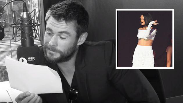 ¡Escucha a Chris Hemsworth leyendo dramáticamente 'Work' de Rihanna! [VIDEO]