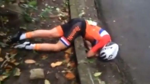 ¡Ciclista sufrió brutal caída en Río 2016! [VIDEO]