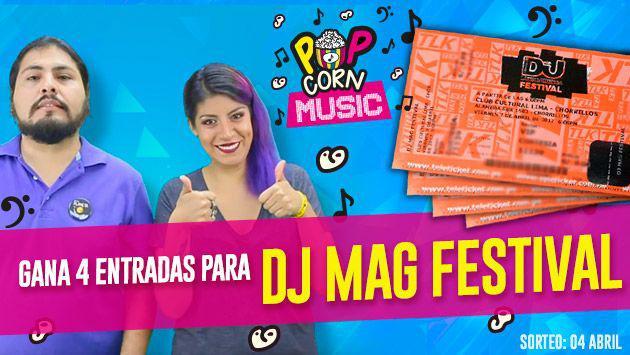 ¡Participa y gana 4 entradas para el DJ Mag Festival con Pop Corn Music!