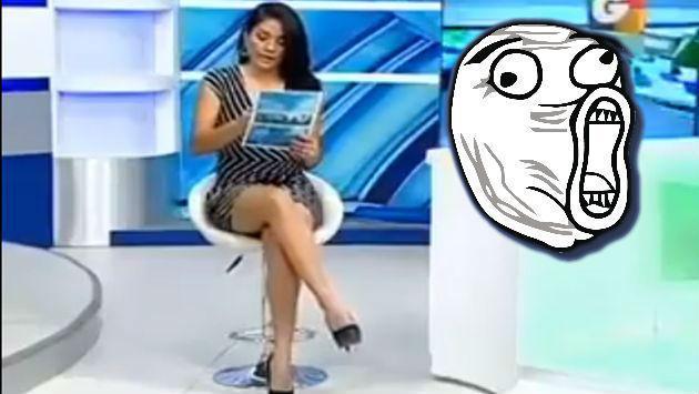 ¡Presentadora fue víctima de broma subida de tono de televidente! [VIDEO]