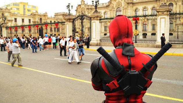 ¡Deadpool se 'pasea' por Lima!