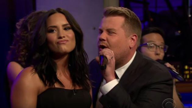 No te pierdas este enfrentamiento musical entre Demi Lovato y James Corden [VIDEO]