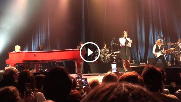 ¡Demi Lovato y Shawn Mendes acompañan a Elthon Johnn en concierto en honor a David Bowie! [VIDEO]