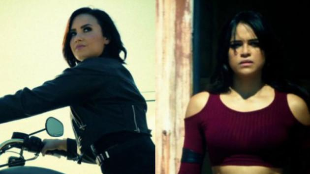 Demi Lovato y Michelle Rodriguez desbordan acción en video de 'Confident'