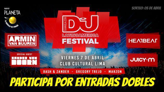 ¡Participa para ganar entradas dobles al DJ Mag Festival!