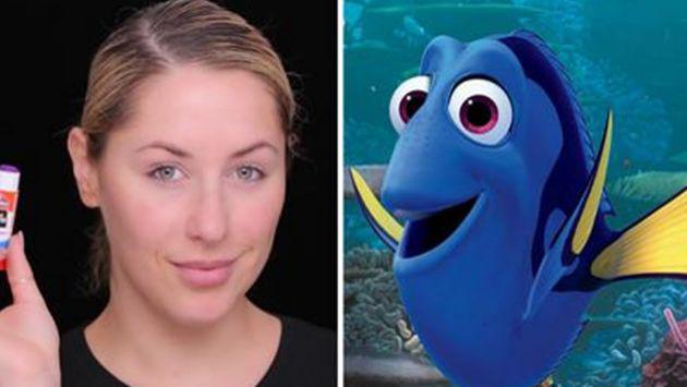 ¡Esta maquilladora te enseña cómo transformarte en 'Dory'! [VIDEO]