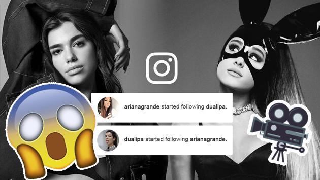 ¡La reciente foto de Dua Lipa junto a Ariana Grande que ha remecido las redes sociales! [FOTO]