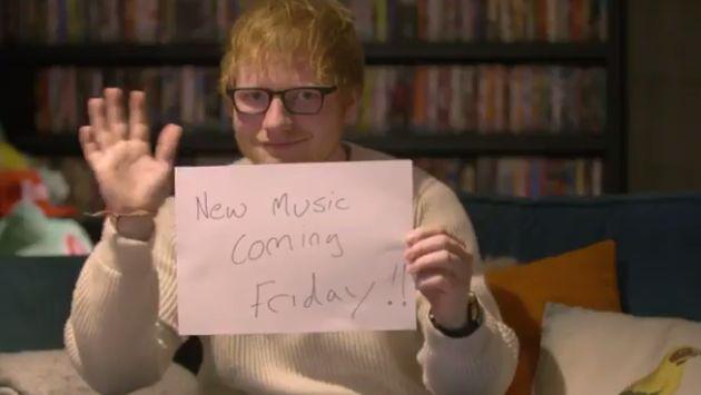 OMG! ¡Ed Sheeran anunció así su regreso a la música! [VIDEO]