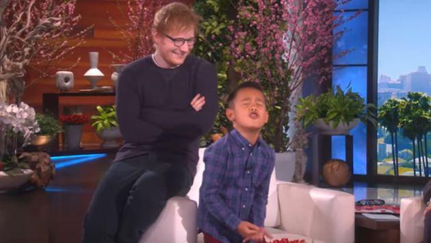 Ed Sheeran sorprendió de esta manera a pequeño fan [VIDEO]