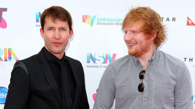 La divertida foto de Ed Sheeran junto a James Blunt