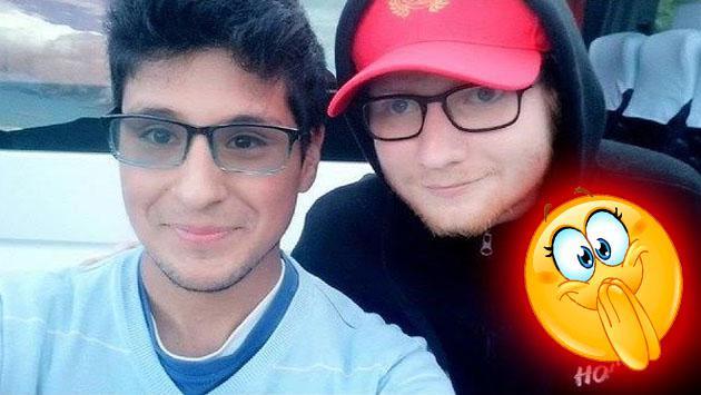 Ed Sheeran pasea en Cusco y se tomó foto con fan peruano