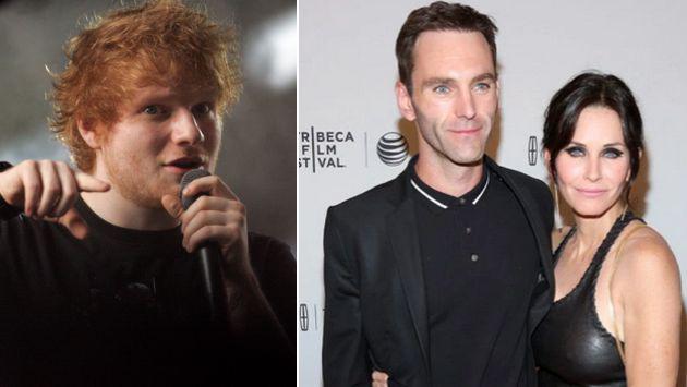 Ed Sheeran quiere oficiar la boda de Courteney Cox y Johnny McDaid