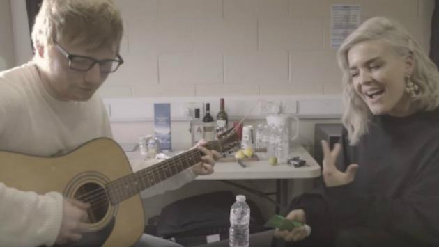 Mira aquí el acústico entre Ed Sheeran y Anne-Marie [FOTOS Y VIDEO]