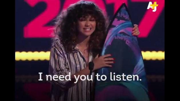 El discurso de Zendaya sobre la injusticia en los Teen Choice Awards [VIDEO]